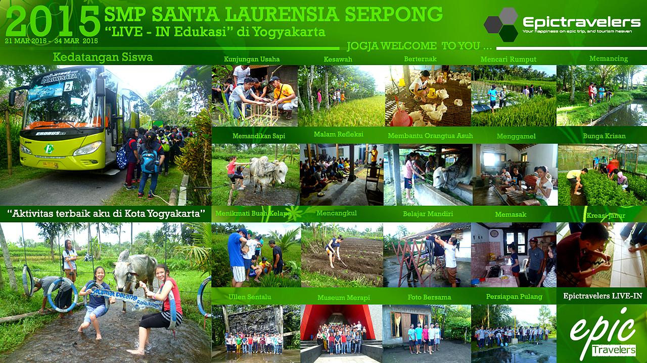 Epic travelers: Epic Travelers Memories - SMP SANTA LAURENSIA SERPONG