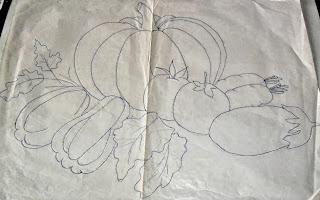 Risco para pintura em tecidos-legumes