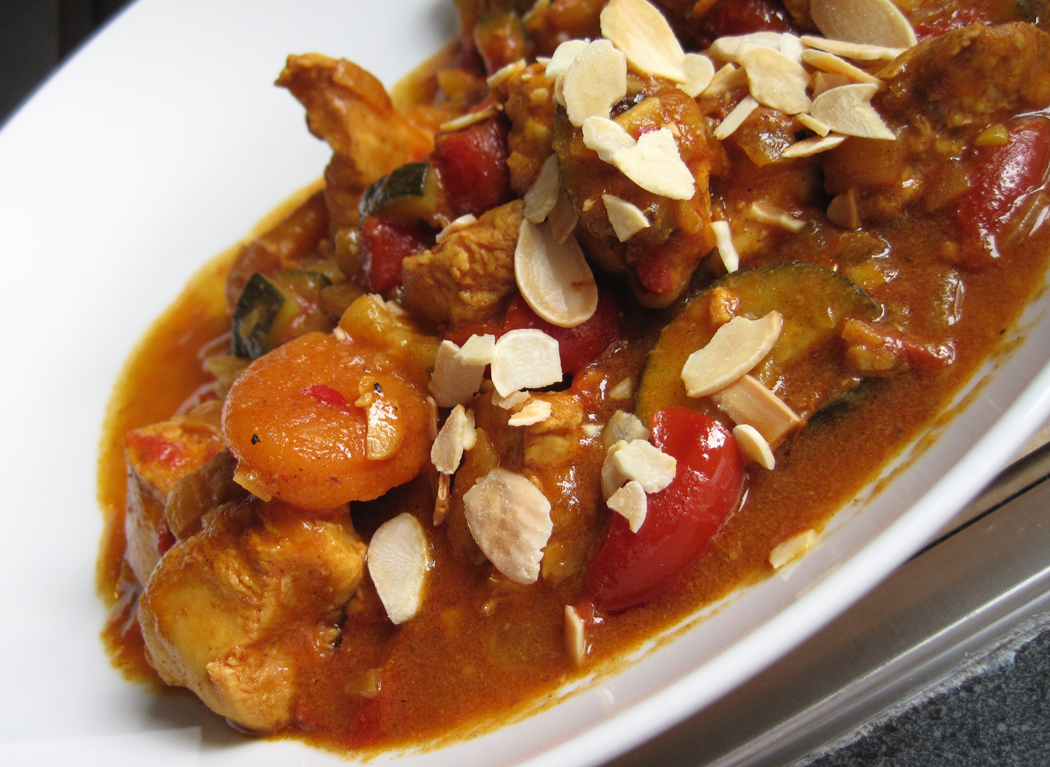 Chicken and Apricot Tagine with Preserved Lemons