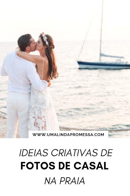 Ideias para fotos de casal na praia