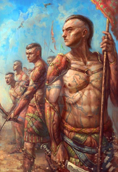 Mark Akopov deviantart ilustrações fantasia russia vintage mitologia