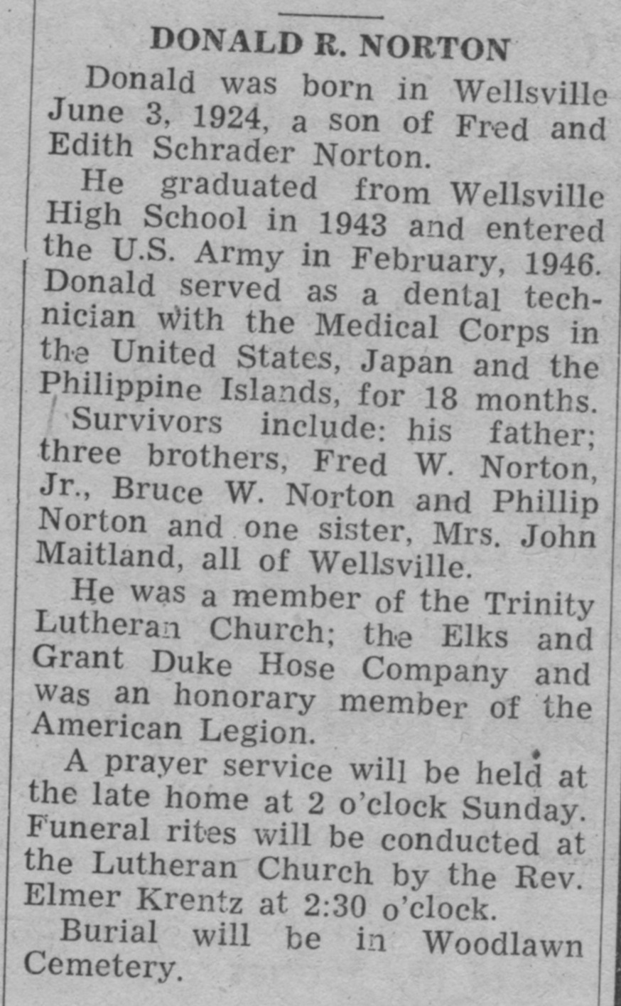 Norton / Haas Family History: Newspaper Articles