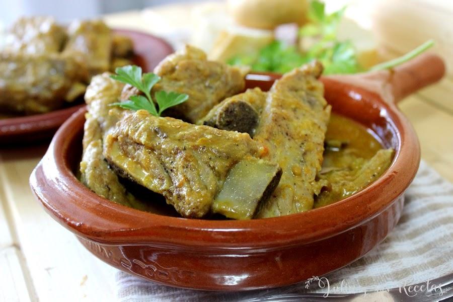 Costillas de cerdo en salsa de naranja. Julia y sus recetas