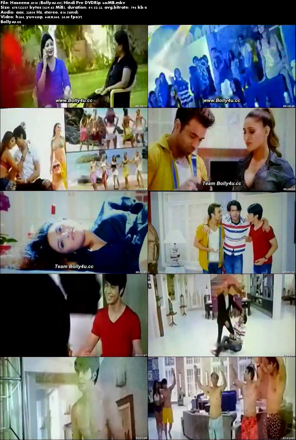 Haseena 2018 Pre DVDRip 350MB Full Hindi Movie Download 480p