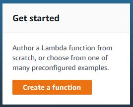 creating a lambda function