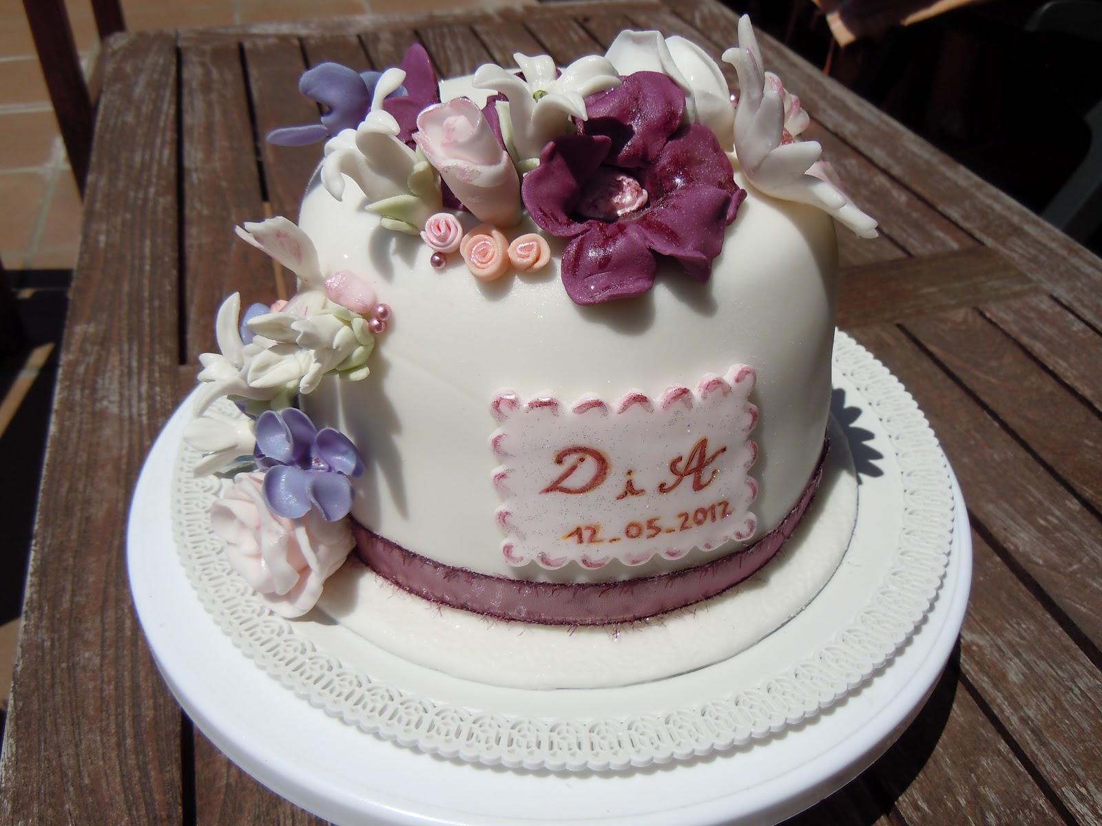 Pasteles De Boda Con Flores: Mini Pastel De Boda Con Flores