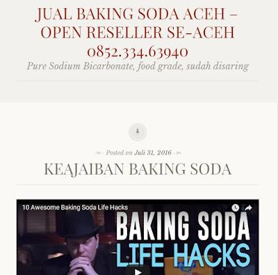 Penjual Grosir Baking Soda di Aceh