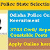 police recruiment 2018 for 3743 civil constable and sepoy