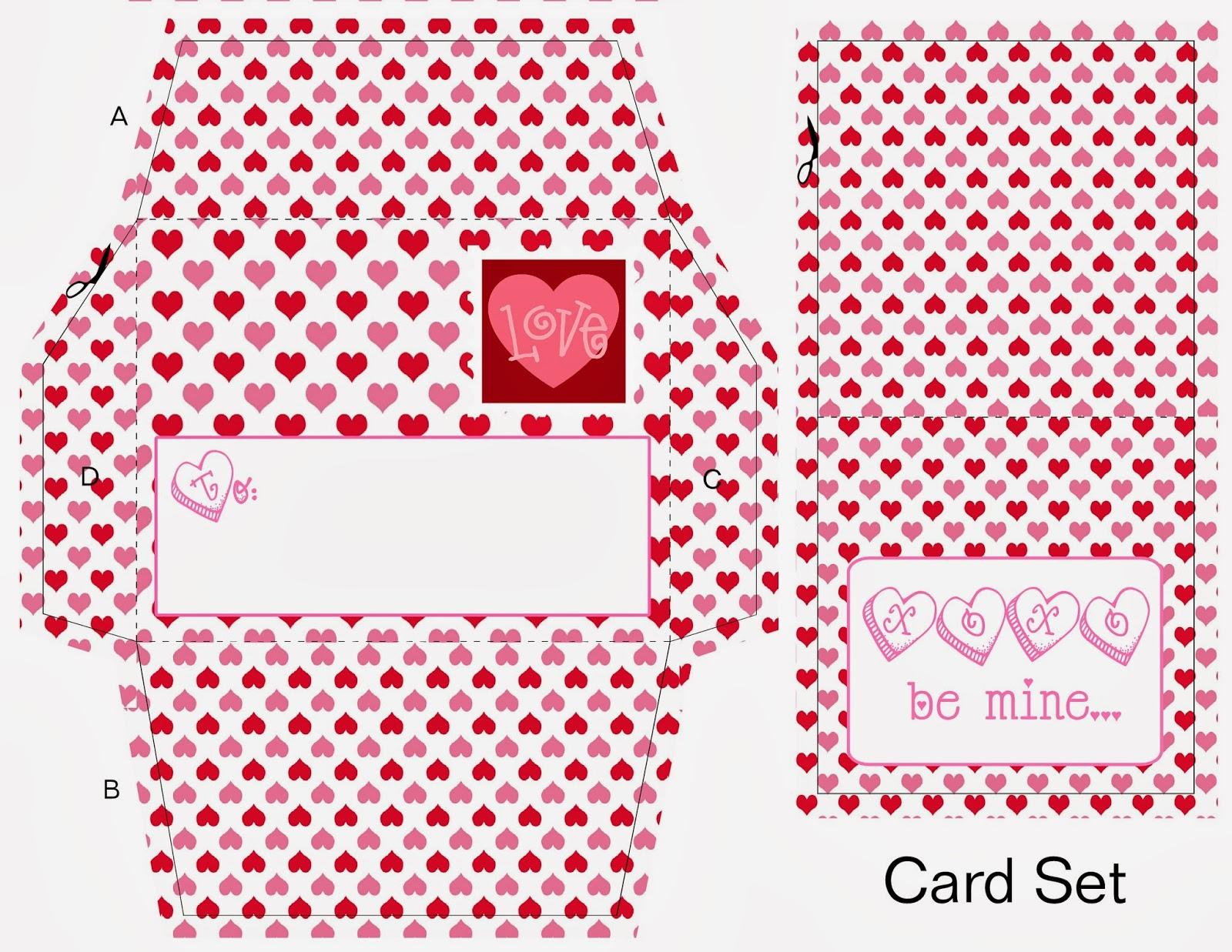 Scrapnteach2 Valentine Envelope And Card Free Printables