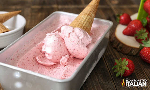 No-Churn 2-Ingredient Strawberry Ice Cream