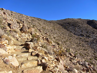 View south on Ryan Mountain Trail, Joshua Tree National Park