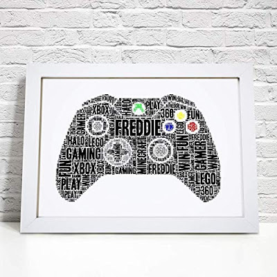 Personalised Xbox Contoller Gaming Word Art Print