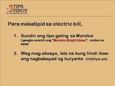 Tips Pinoy - Money Saving #001