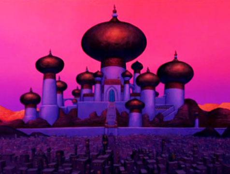 El palacio del sultán en Aladdín - Cine de Escritor
