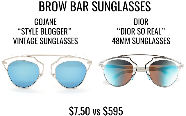 "Dior So Real sunglasses, Dior So Real dupes, Dior So Real dupe, Dior So Real look a likes, sunglasses similar to Dior So Real | A shopping comparison post featuring Dior ""Dior So Real"" sunglasses and GoJane ""Style Blogger Vintage"" sunglasses."