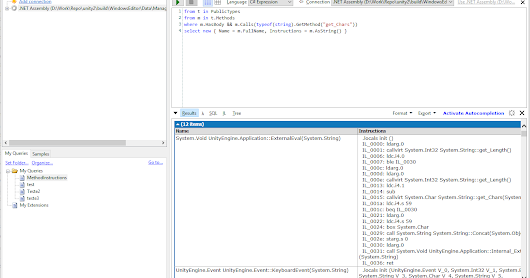 Programing Fun: To infinity and beyond : more powerful .NET Metadata querying with LINQPad custom drivers and Mono.Cecil