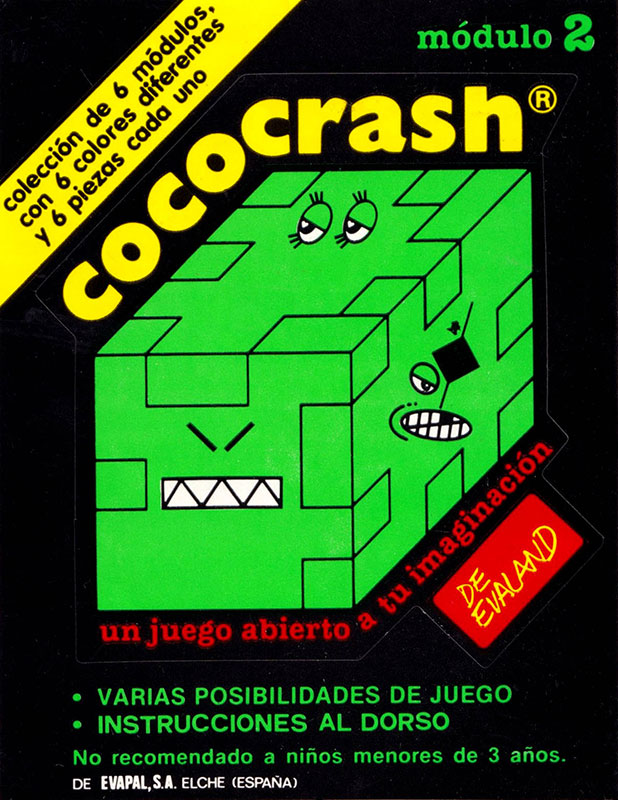 Cococrash 1986 Pegatina nivel 2