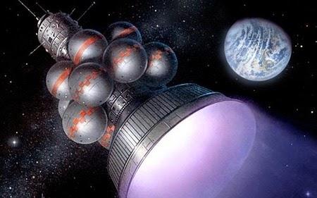 Construyen nave espacial para salvar a la humanidad