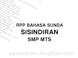 RPP Sisindiran Bahasa Sunda SMP