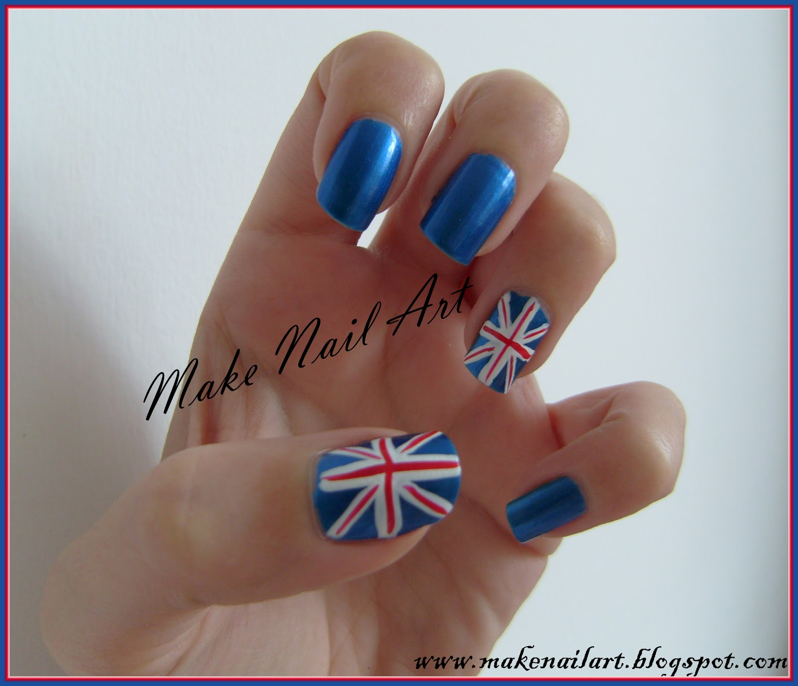 Make Nail Art Uk Flag Nail Art Tutorial