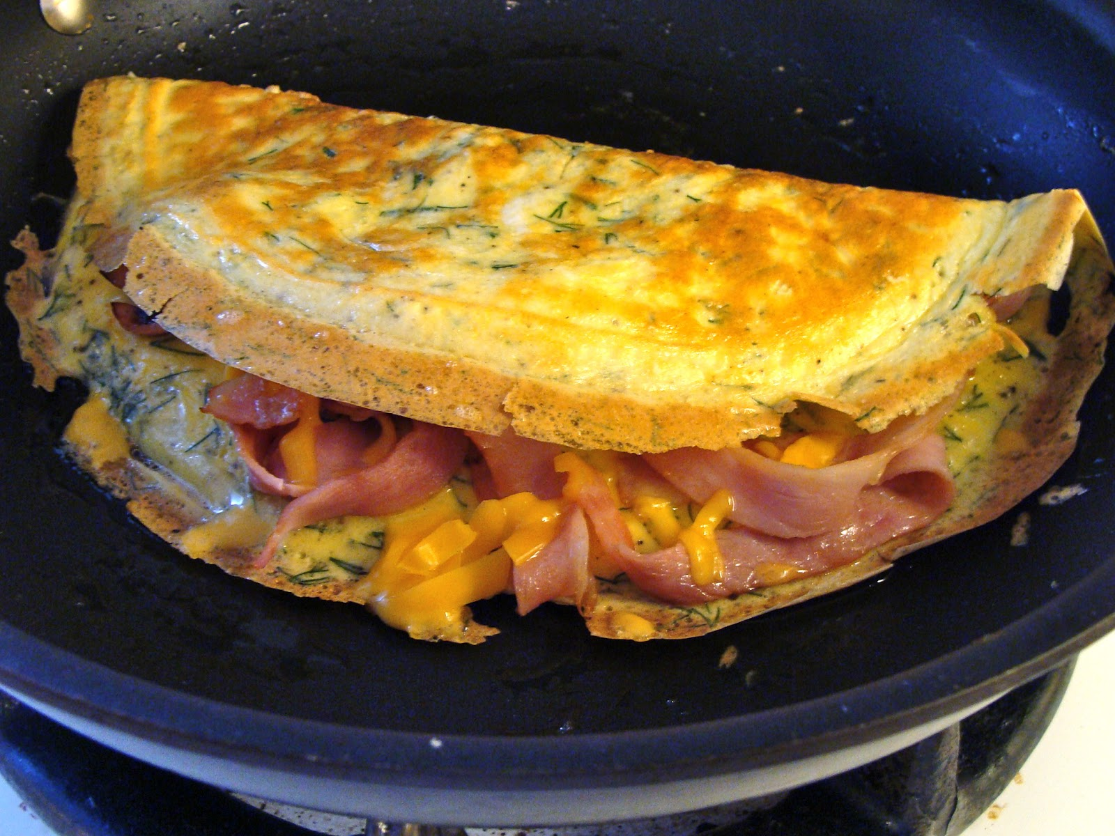 Dill Ham & Cheese Omelet | Rux Cooks