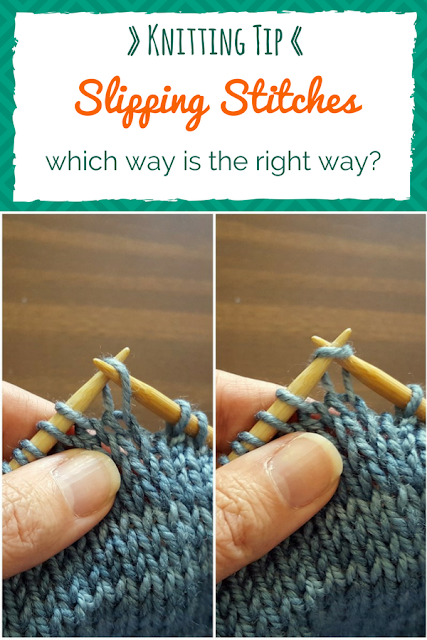How to know which direction you should slip a stitch, knitwise or purlwise