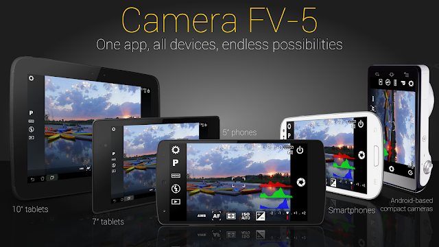 is a professional person photographic television set camera application for android devices Download Camera FV-5 PRO v3.25 APK Latest Premium