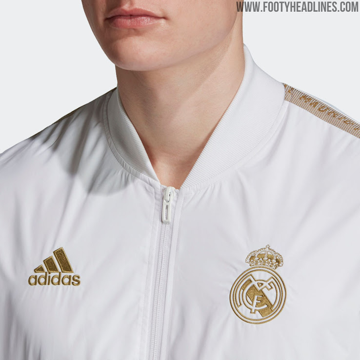 White Gold Real Madrid 19 20 Anthem Jacket Released