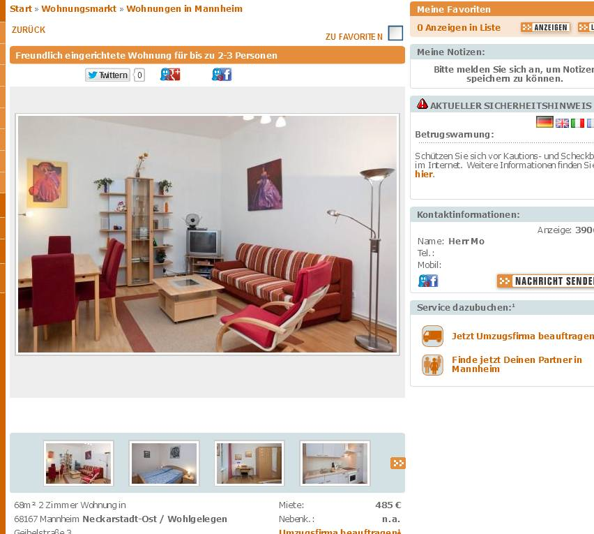 alias herr mo freundlich eingerichtete wohnung f r bis zu 2 3. Black Bedroom Furniture Sets. Home Design Ideas