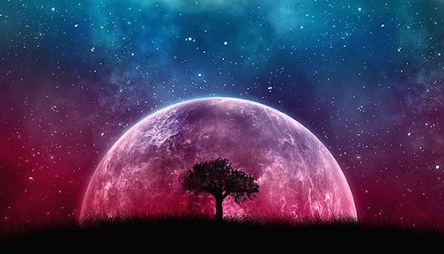موضع تعبير عن القمر القمر وحياة المسلمين + شعر
