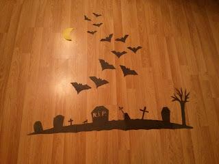A Halloween-i fali dekoráció házilag elkészült