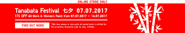 Uniqlo Code Malaysia Online Store Tanabata Festival Discount Offer Promotion