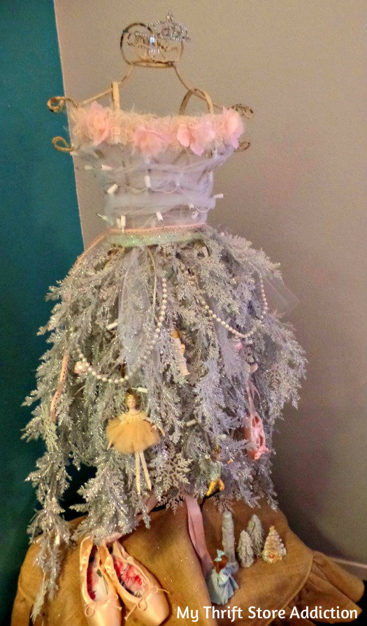 Repurposed dress form Christmas tree