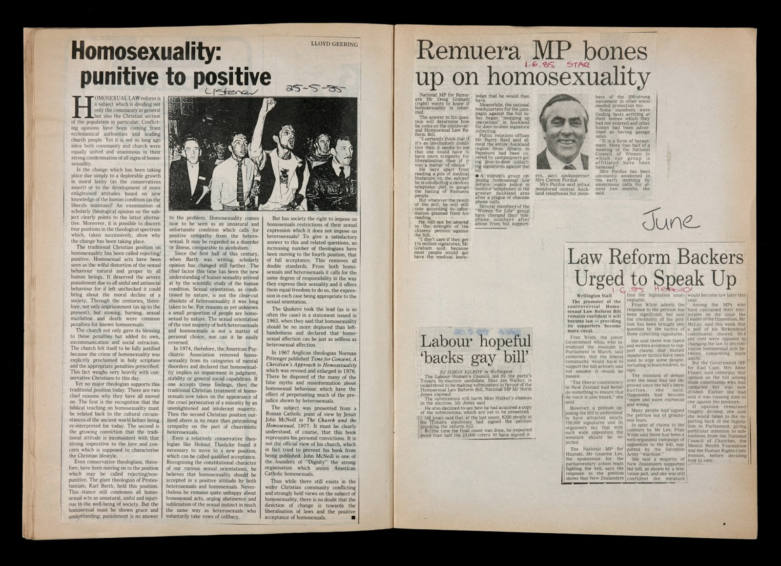 Homosexual law reform new zealand 1986
