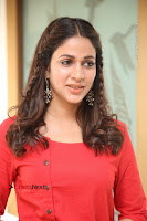 Actress Lavanya Tripathi Latest Pos in Red Dress at Radha Movie Success Meet .COM 0144.JPG