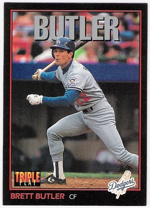 b3a0b9bd2 1992 - dodger stadium 30th anniversary (1993 donruss triple play brett  butler). 1993 - none (don drysdale roy campanella and tim crews memorial  patches)