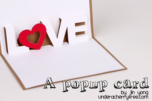 Under A Cherry Tree Love A Pop Up Card Free Download