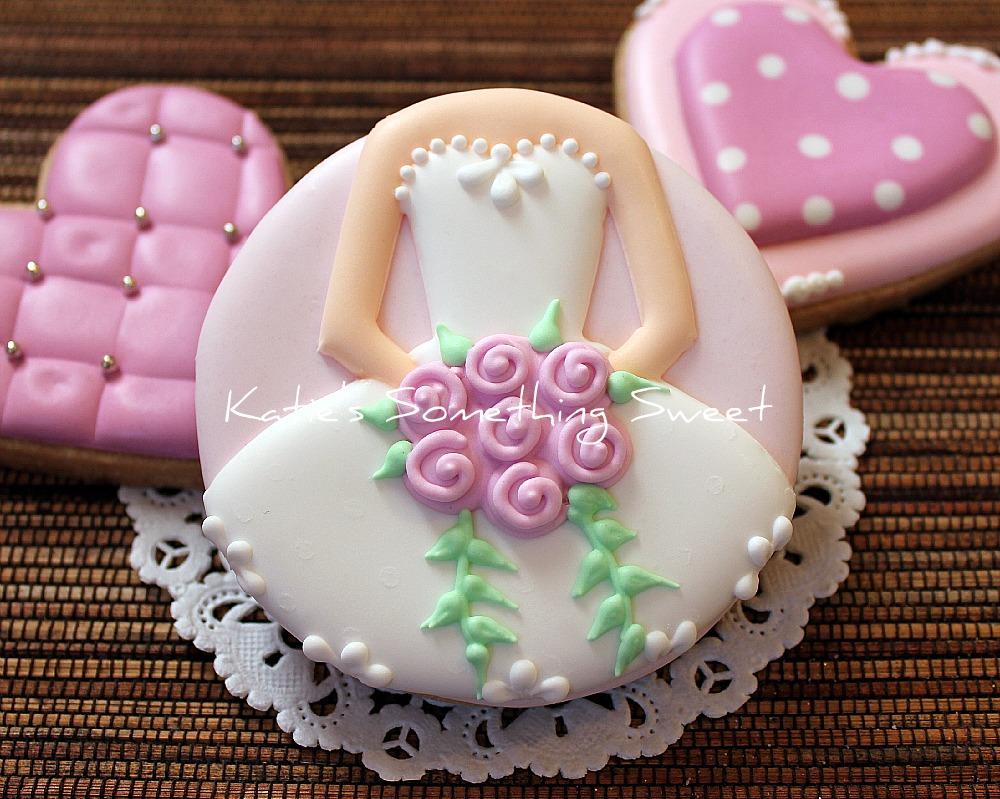 Katies Something Sweet Ballerina Cookies  Wedding Dress Cookies