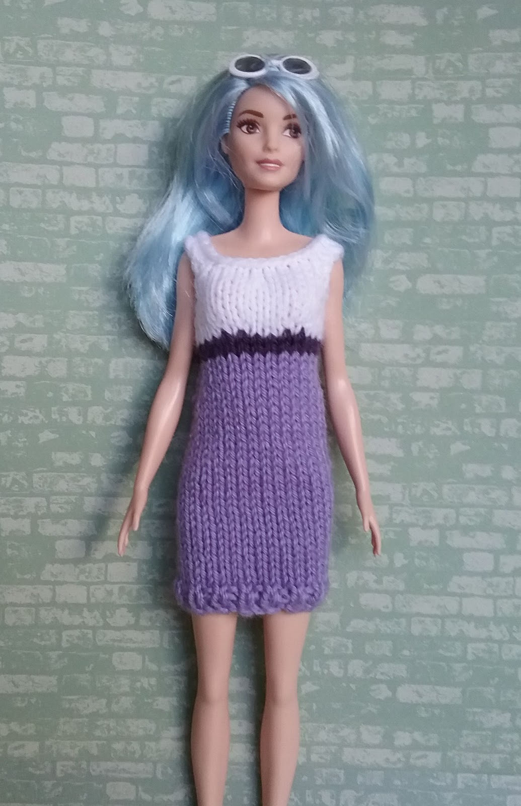 Linmary Knits: Curvy and Tall Barbie Fashionista knitted dresses