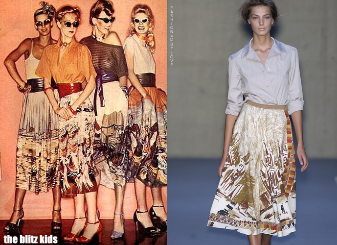 Fashion copycats Vogue Brazil 1977 VS Prada Spring/Summer 2004 via www.fashionedbylove.co.uk