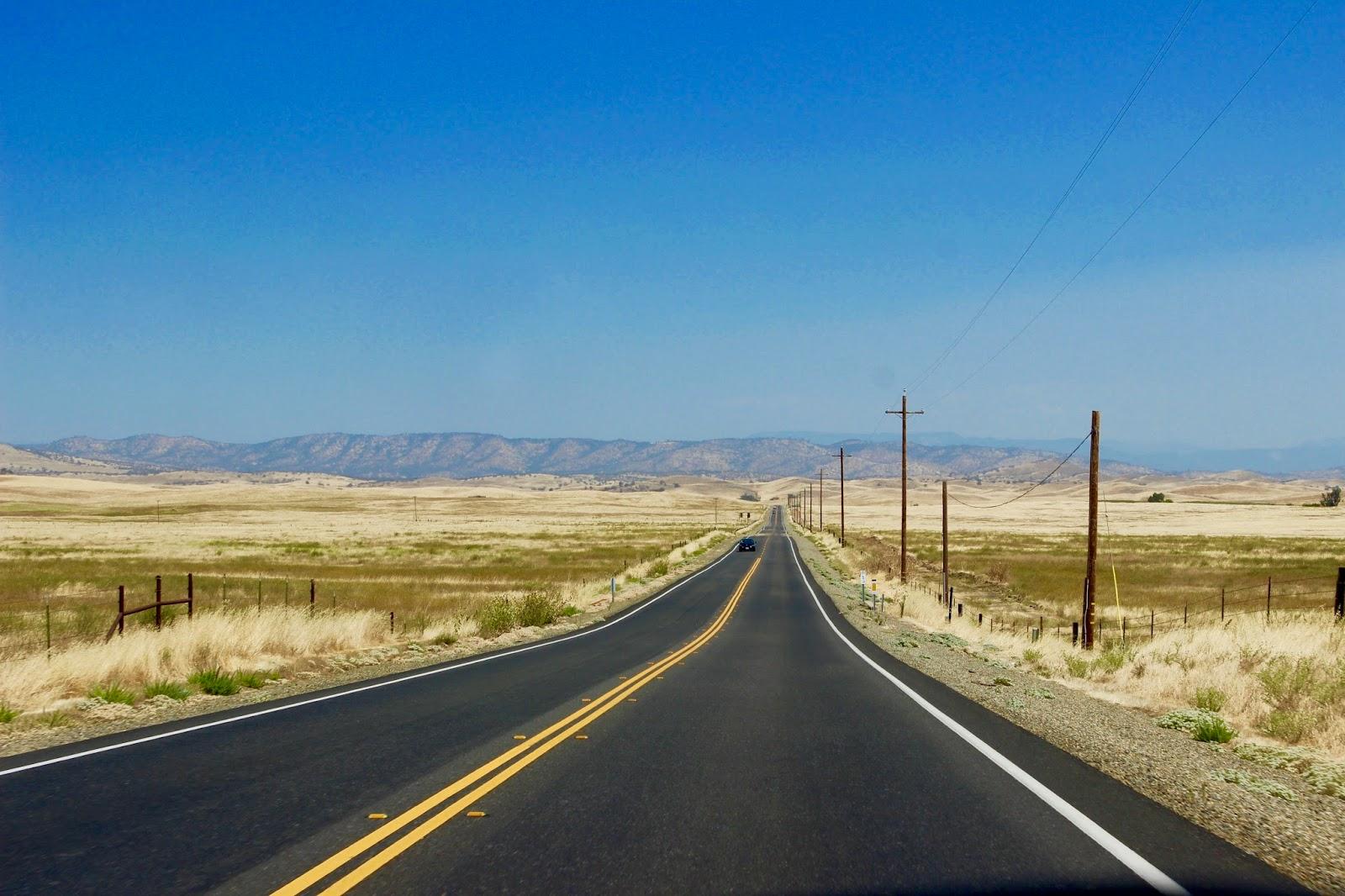 Road trip through California USA