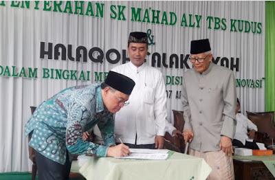 Buka Prodi Ilmu Falak, Ma'had Aly TBS Kudus Terima SK Kemenag