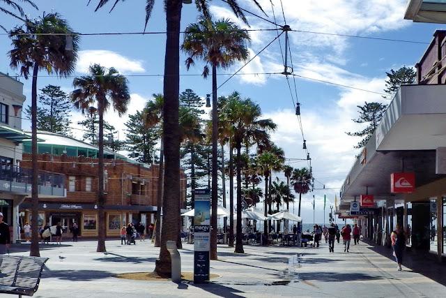 Manly, Corso, Shopping, Einkaufen, Palmen, Fussgängerzone