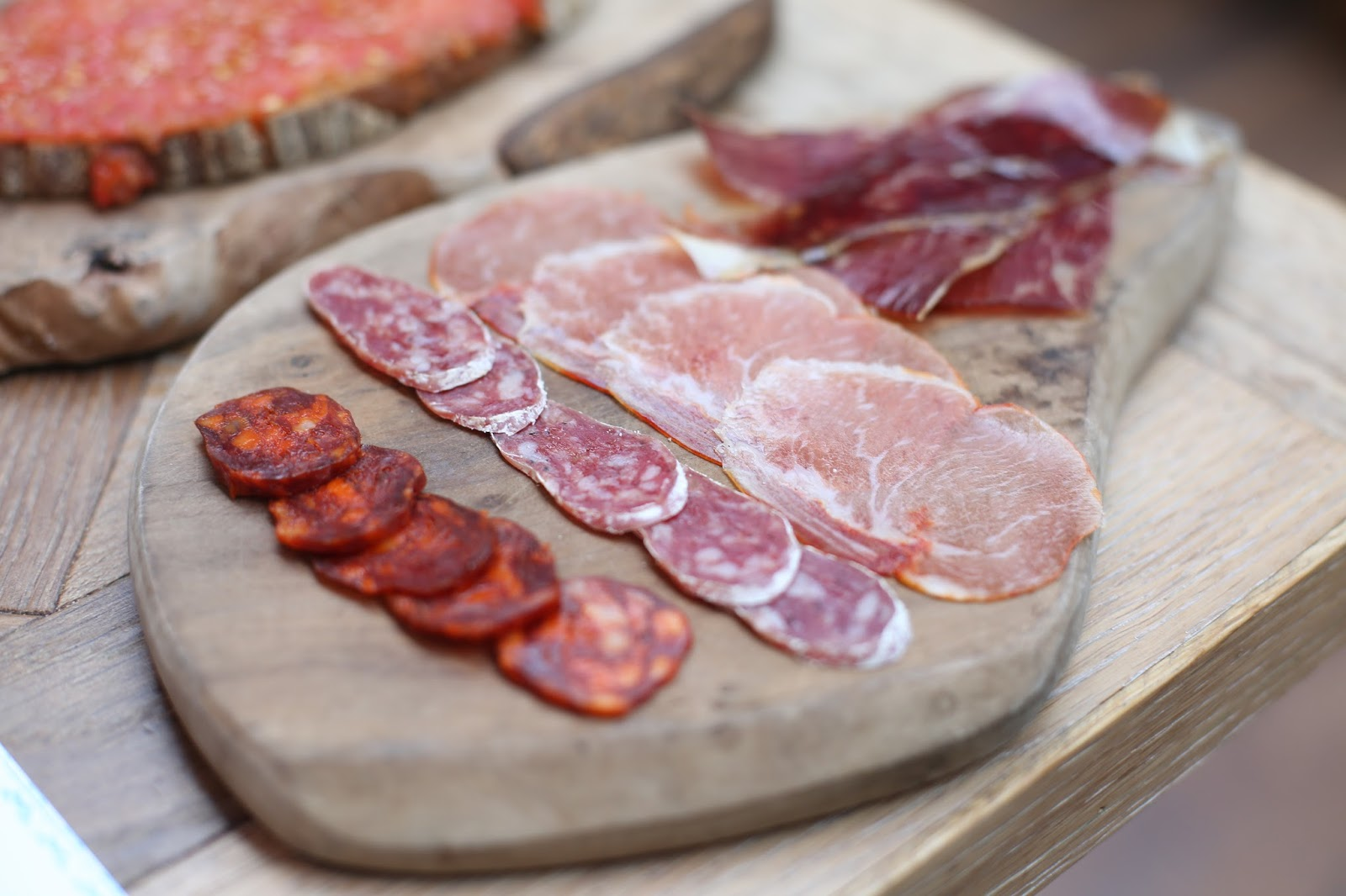 cured meat selection