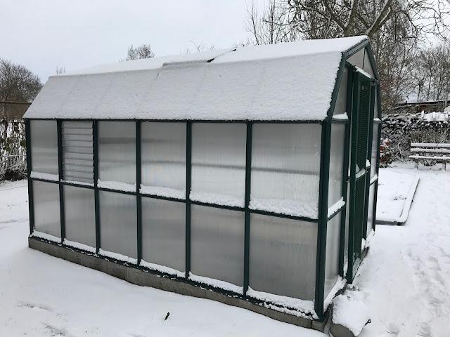 Gewächshaus im Schnee (c) by Joachim Wenk