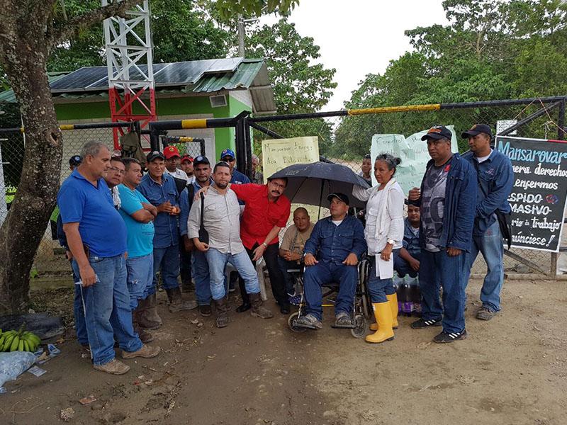 Fuerza pública y Mansarovar arremeten con violencia contra trabajadores enfermos