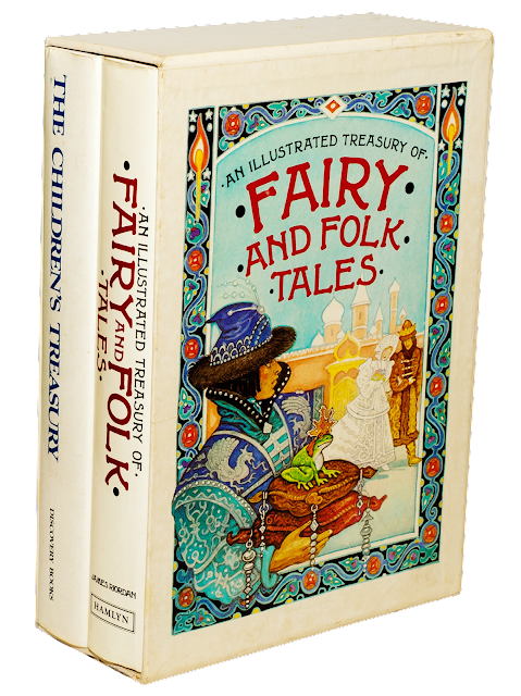 A boxed set of illustrated fairy and folk tales for children.