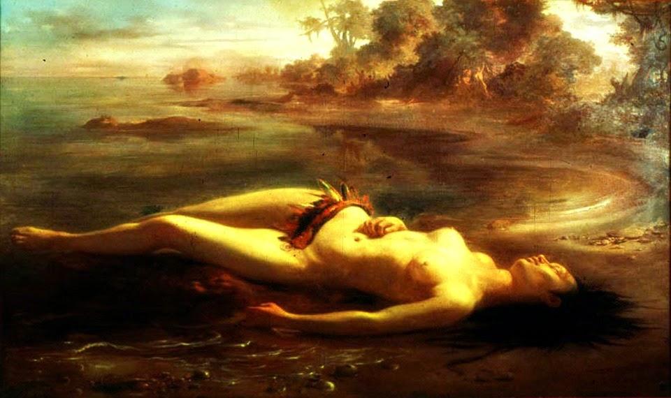 """""""Moema"""" (1866) - Victor Meirelles de Lima"""