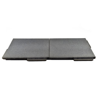Greatmats gray interlocking rubber pavers