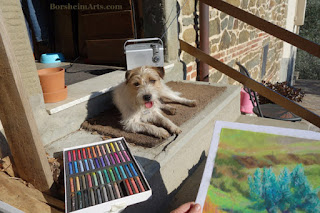Art dog pastel wip dogsitting sweet companion Gregory